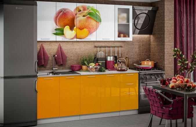 Кухня фотопечать Персик. Готовое решение 2,0м