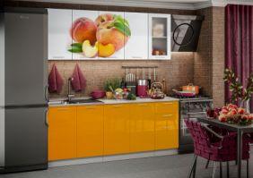 Кухня фотопечать Персик ( готовое решение 2,0м )