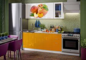 Кухня фотопечать Персик ( готовое решение 1,8 м )