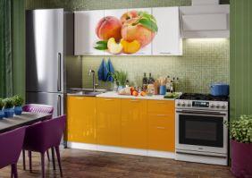 Кухня фотопечать Персик ( готовое решение 1,7 м )