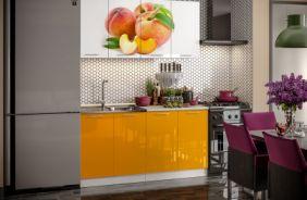Кухня фотопечать Персик. Готовое решение 1,6 м