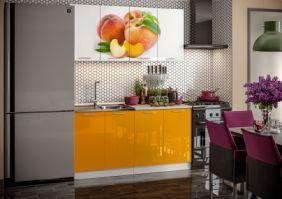 Кухня фотопечать Персик ( готовое решение 1,6 м (80м+80ст(2+2))