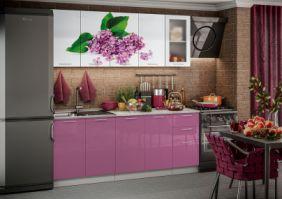 Кухня фотопечать Сирень ( готовое решение 2,0 м )