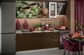 Кухня фотопечать Черный чай. Готовое решение 2,0