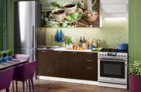 Кухня фотопечать Черный чай. Готовое решение 1,7