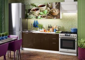 Кухня фотопечать Черный чай ( готовое решение 1,7 м )