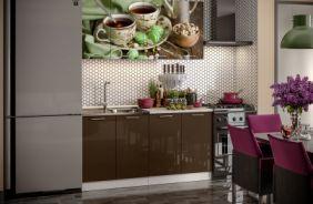 Кухня фотопечать Черный чай. Готовое решение 1,6