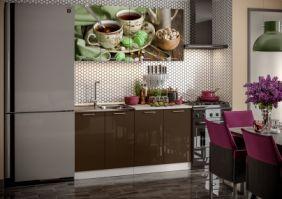 Кухня фотопечать Черный чай ( готовое решение 1,6 (80м+80ст(2+2))