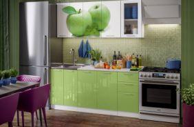 Кухня фотопечать Яблоко. Готовое решение 1,8
