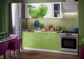 Кухня фотопечать Яблоко ( готовое решение 1,8 м )