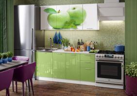 Кухня фотопечать Яблоко ( готовое решение 1,7 м )