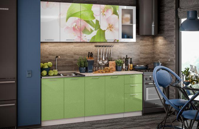 Кухня фотопечать Яблоневый цвет. Готовое решение 2,0