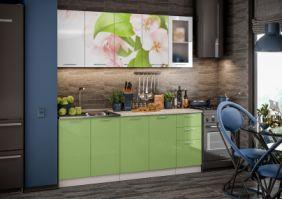 Кухня фотопечать Яблоневый цвет ( Готовое решение 2,0 м )