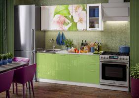 Кухня фотопечать Яблоневый цвет ( готовое решение 1,8 м )