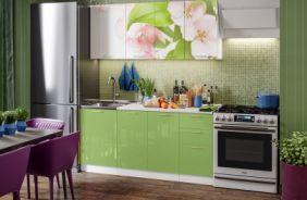 Кухня фотопечать Яблоневый цвет. Готовое решение 1,7