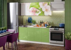 Кухня фотопечать Яблоневый цвет ( готовое решение 1,7 м )