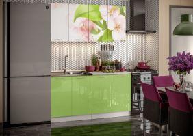 Кухня фотопечать Яблоневый цвет ( готовое решение 1,6 (80м+80ст(2+2))