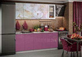 Кухня фотопечать Вишневый цвет ( готовое решение 2,0 м )