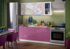 Кухня фотопечать Вишневый цвет ( готовое решение 1,8 м )