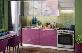 Кухня фотопечать Вишневый цвет. Готовое решение 1,7