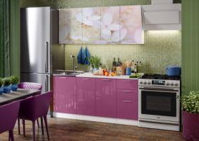 Кухня фотопечать Вишневый цвет ( готовое решение 1,7 м )