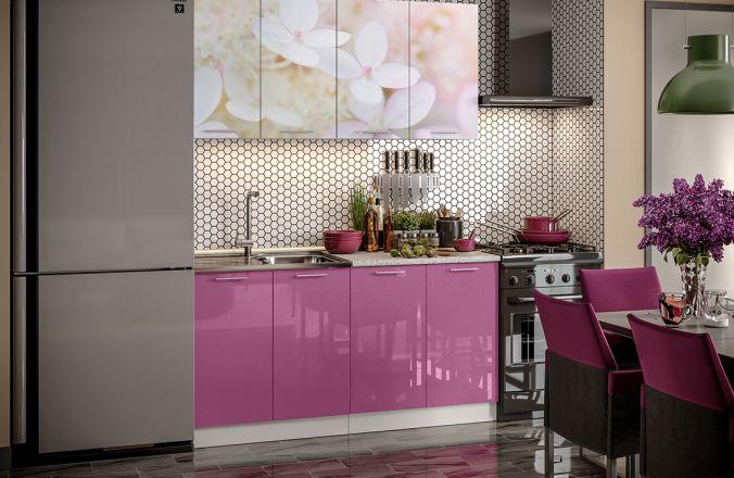 Кухня фотопечать Вишневый цвет. Готовое решение 1,6