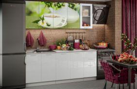 Кухня фотопечать Зеленый чай. Готовое решение 2,0