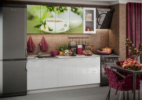 Кухня фотопечать Зеленый чай ( готовое решение 2,0 м )