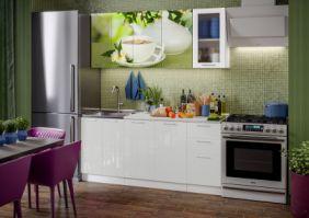 Кухня фотопечать Зеленый чай ( Готовое решение 1,8 м )