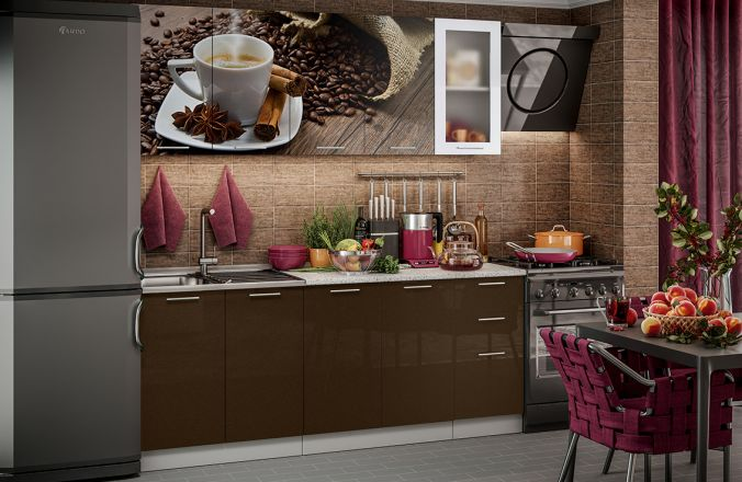 Кухня фотопечать Кофе. Готовое решение 2,0