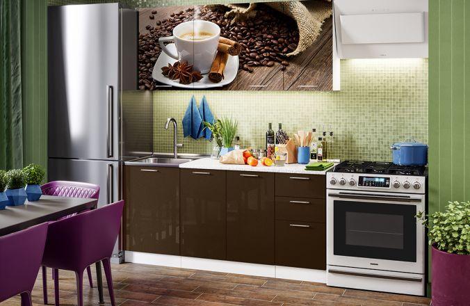 Кухня фотопечать Кофе. Готовое решение 1,7