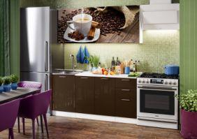 Кухня фотопечать Кофе ( готовое решение 1,7 м )
