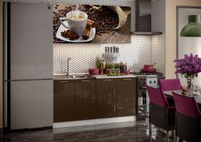 Кухня фотопечать Кофе ( готовое решение 1,6