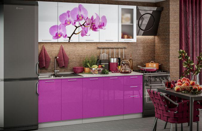 Кухня фотопечать Орхидея. Готовое решение 2,0