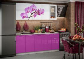 Кухня фотопечать Орхидея ( готовое решение 2,0 м )