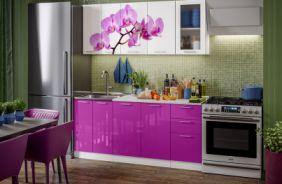 Кухня фотопечать Орхидея. Готовое решение 1,8