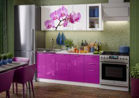 Кухня фотопечать Орхидея ( готовое решение 1,8 м )