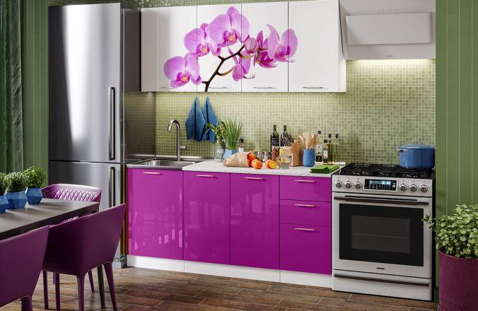 Кухня фотопечать Орхидея. Готовое решение 1,7