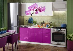 Кухня фотопечать Орхидея ( готовое решение 1,7 м )