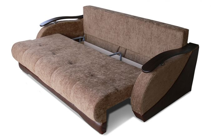 Прямой диван тик-так Гранд. Ящик для белья