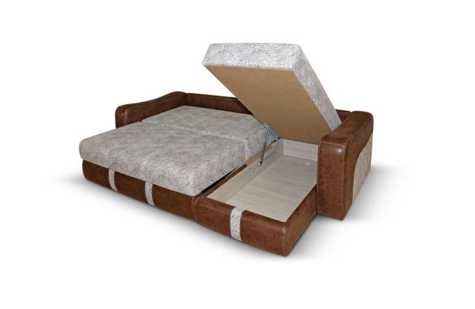 Угловой пружинный диван Манхетон, ткань: Gloria milk, Al 612-1, Nicson 1