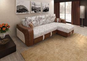 Угловой пружинный диван