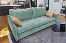 Прямой диван Бэст V. Ткань дивана: Velutto 14; ткань подушек: Velutto 02