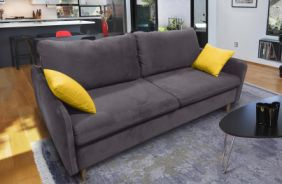Прямой диван Бэст V. Ткань дивана: Velutto 19; ткань подушек: Velutto 40