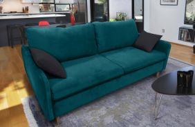 Прямой диван Бэст V. Ткань дивана: Velutto 20; ткань подушек: Velutto 34