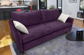 Прямой диван Бэст V. Ткань дивана: Velutto 25; ткань подушек: Velutto 01