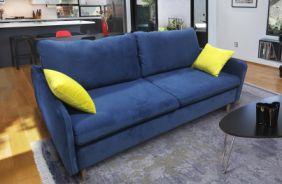 Прямой диван Бэст V. Ткань дивана: Velutto 26; ткань подушек: Velutto28