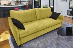 Прямой диван Бэст V. Ткань дивана: Velutto 28; ткань подушек: Velutto 34