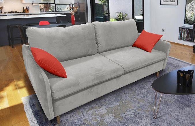 Прямой диван Бэст V. Ткань дивана: Velutto 13; ткань подушек: Velutto 39