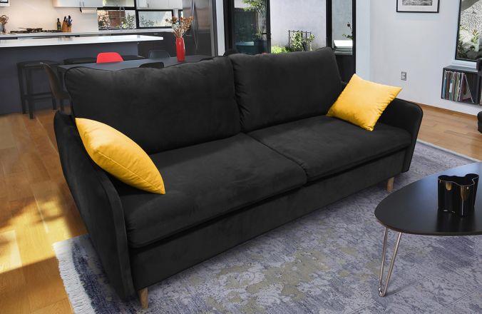 Прямой диван Бэст V. Ткань дивана: Velutto 34; ткань подушек: Velutto 40